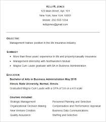 Sample Business Administration Resume Template Photo Gallery On