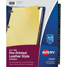 tab index cards avery a z black leather tab divider dividers index cards at