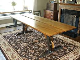 Reclaimed Oak Dining Table Custom Made Reclaimed Oak And Steel Dining Table By Donald Mee