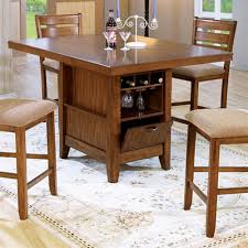 Counter Height 5 Piece Dining TableKitchen Island Set with Wine