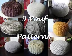 Knitted Floor Pouf Pattern
