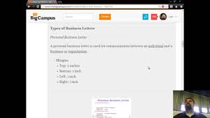 Introduction To Letters And Memos Personal Business Letter Youtube
