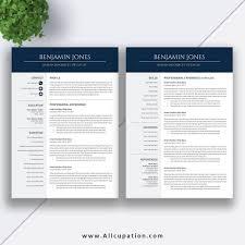 Etsy Best Selling Resume Template The Benjamin Resume For Job