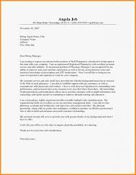 Pharmacist Cover Letter Fresh Pharmacist Cover Letter ...