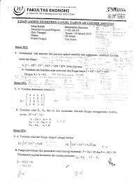 Contoh Soal Tes Masuk Fakultas Ekonomi Akuntansi Dapatkan Contoh
