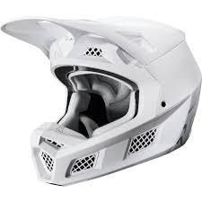 Fox Mx Helmet V3 Solid White Silver