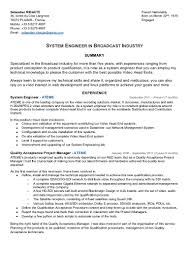 Systems Development Manager Sample Resume Essays Ideas