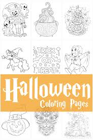A little ghost with the bag. 75 Halloween Coloring Pages Free Printables