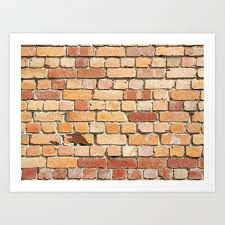 old brick wall art print by philinblank