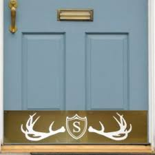 front door monogramMonogrammed Front Door Kick Plate  Deck the Door Decor