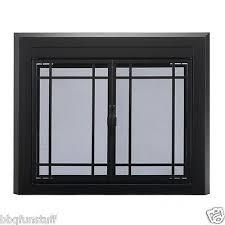 pleasant hearth glass fireplace door easton black small ea 5010 mesh screens