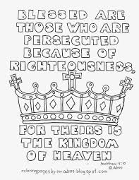 Small Picture Coloring Pages for Kids by Mr Adron Blessed are the Persecuted