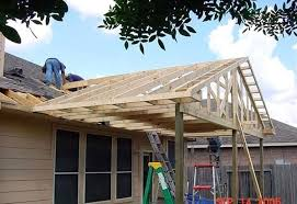 build a porch with a gable roof