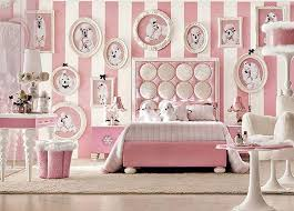 striped french inspired bedroom