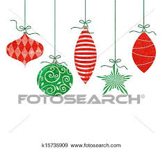 retro christmas ornament clip art. Interesting Ornament Five Cute Retro Christmas Ornaments Hanging By Green String On Retro Ornament Clip Art