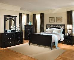 ... Modern Style Black Bedroom Furniture Back To Post Painting Wood Furniture  Black For Classic Interior ...
