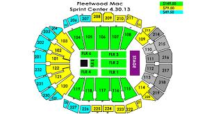 Fleetwood Mac Sprint Center Seating Chart Fleetwood Mac Sprint Center