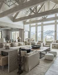 Rustic Interior Design Ideas Neutral Rustic Interiors Neutral Rustic Living Room With Vaulted Ceiling And Exposed Whitewashed Beams And