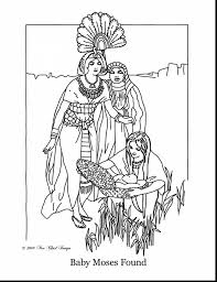 Small Picture Baby Moses Coloring Pages Printable Coloring Pages