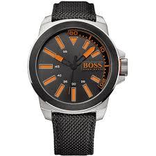 men s hugo boss orange 1513116 watch official outlet francis hugo boss orange men s black leather strap new york watch black dial 1513116