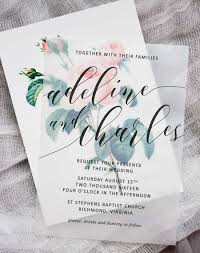 Flower Invitation 10 diy floral wedding invitations pipkin paper company on wedding invitations on vellum
