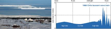 Tsunami waves may travel as fast as jet planes over deep waters, only slowing down when reaching shallow waters. Tsunami Wave Train Approaching The Japanese Coastline After The 2011 Download Scientific Diagram