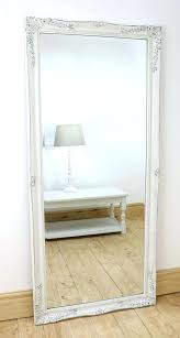 White Floor Mirror Mirrors Home Decor French With Storage