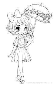 Chibi Popcorn Girl Coloring Page Girls Pages 4 Noscaorg