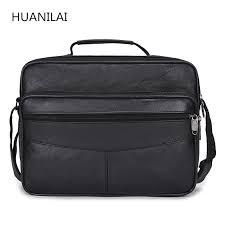 <b>HUANILAI</b> Men's Bags High capacity Men <b>Genuine Leather</b> Bags ...