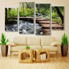 Small Picture Aliexpresscom Buy 4pcsno frameretro waterfall definition
