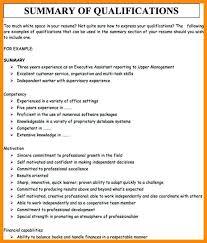 Executive Core Qualifications Resume Sample Spacesheep Co