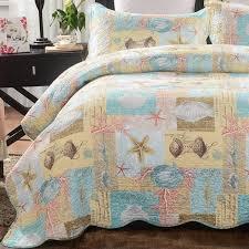 mixinni seashell beach bedding set queen beach theme