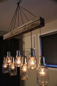 unique rustic lighting. UNIQUE Mason Jar Light Chandelier Pendant Ceiling 7 Jars VINTAGE Look. $280.00, Via Etsy Unique Rustic Lighting D