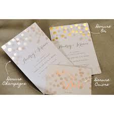 Faire Part Mariage Champagne En Dorure Chaud Luxe