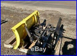 john deere snow plow attachment. Delighful Attachment John Deere Tractor Quick Hitch Attach Skid Steer Snow Plow Power Angle 5 Intended Attachment A