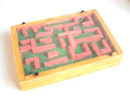 Wooden Maze Game With Ball Bearing Design and Technology created by Malcolm Cadman 29