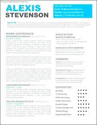 Modern Resumes Templates Unique Dynamic Resume Templates And Professional Free Modern Marketing