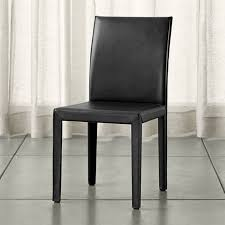 vedel oak leather dining chairs shop quality dining and kitchen chairs at crate and barrel browse dini