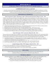 Cover Letter Information Analyst Resume Senior Information Systems
