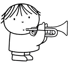 Dick Bruna Kleurplaat Trompet Muziek Coloring Trumpet Music