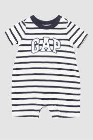 Shop White Gap Arch Logo Shorty One Piece For Kids Nisnass Uae