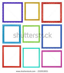 Colorful Frames On White Background Stock Photo 232953031
