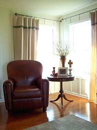 side mount dry rods hang curtain rod from ceiling panel for windows close to wall easy bay window curtain
