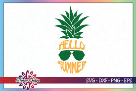 Free pineapple vector download in ai, svg, eps and cdr. Hello Summer Pineapple Graphic By Ssflower Creative Fabrica