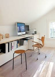 stylish home office space. 30+ Modern Computer Desk And Bookcase Designs Ideas For Your Stylish Home. Attic Office SpaceAttic Home Space