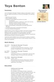 spa therapist resume sample