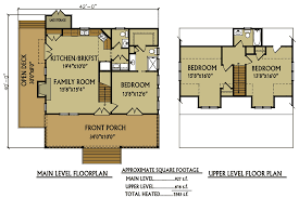 Bay View II  Log Homes Cabins And Log Home Floor Plans Cabin Floor Plans