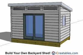 office shed plans.  Office 10x14 Modern Studio Office Shed Plans With Shed Plans K