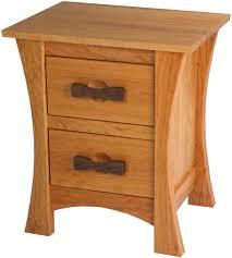 Zen Nightstand With Drawers In Medium Oak ...