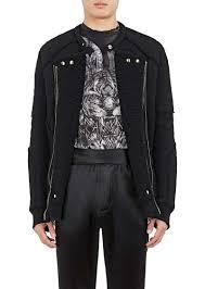 balmain men s wool blend sherpa moto jacket